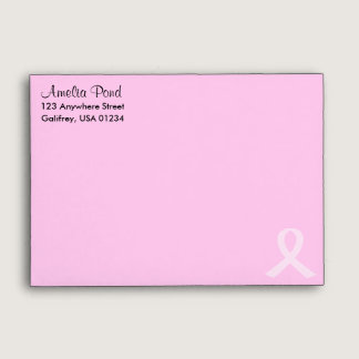 Pink Ribbon Breast Cancer Envelope
