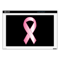 "Pink Ribbon Breast Cancer Research 17"" Laptop Skin"