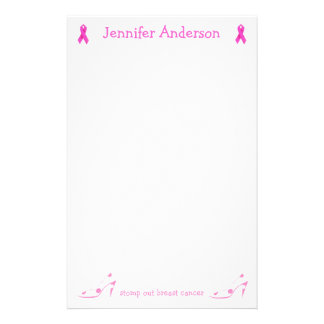 Pink Ribbon Breast Cancer stationery