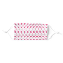Pink Ribbon Breast Cancer Strong Cloth Face Mask