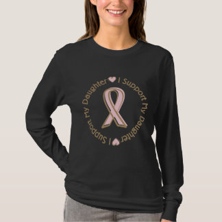 Pink Ribbon Breast Cancer Support Daughter T-Shirt