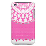 Pink Ribbon Breast Cancer Support iPod Touch Case