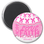 Pink Ribbon Breast Cancer Support Magnet