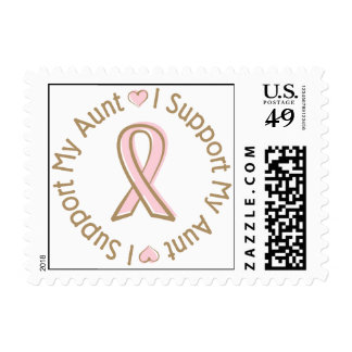 Pink Ribbon Breast Cancer Support My Aunt Postage