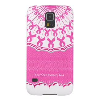 Pink Ribbon Breast Cancer Support Samsung Galaxy Cases For Galaxy S5