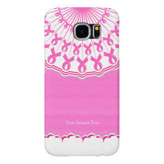 Pink Ribbon Breast Cancer Support Samsung Galaxy S6 Cases