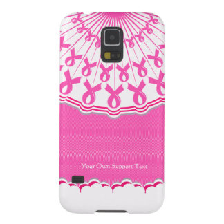 Pink Ribbon Breast Cancer Support Samsung  S5 Case For Galaxy S5