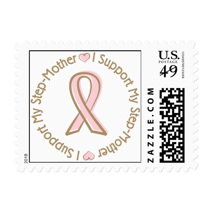 Pink Ribbon Breast Cancer Support StepMother Postage Stamp