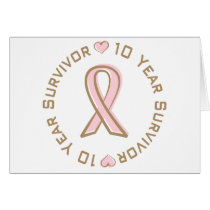Pink Ribbon Breast Cancer Survivor 10 Years