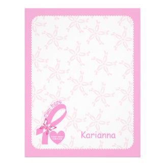 Pink Ribbon Breast cancer survivor & pink border Letterhead