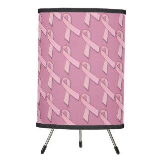 Pink Ribbon Breast Cancer Survivor Tripod Lamp