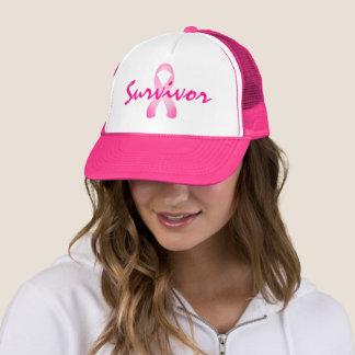 ab888b84 Pink Ribbon Breast Cancer Survivor Trucker Hat