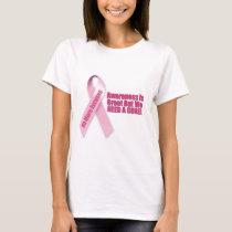 Pink Ribbon Breast Cancer T-Shirt