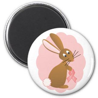 Pink Ribbon Bunny Magnet