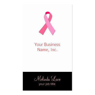 Pink Ribbon Business Card