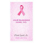 Pink Ribbon Business Card Templates
