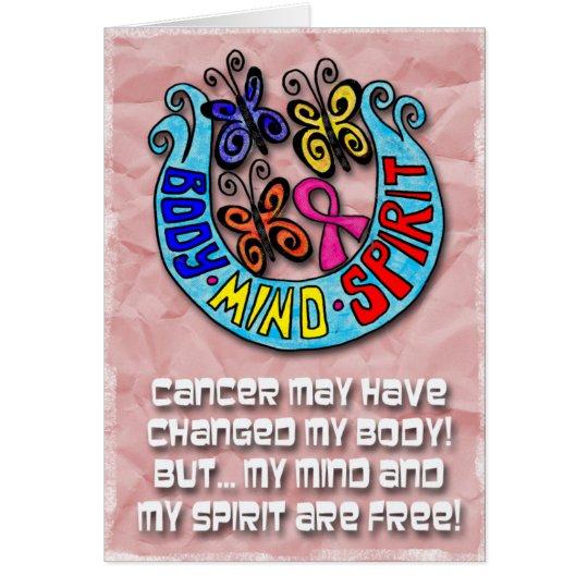 Pink Ribbon: Butterflies Body Mind Spirit Card