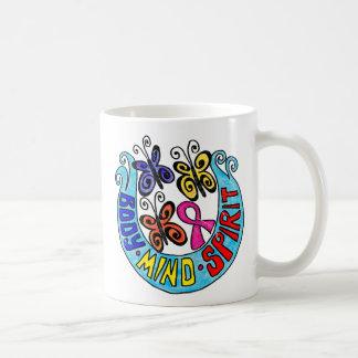 Pink Ribbon Butterflies Body Mind Spirit Coffee Mug