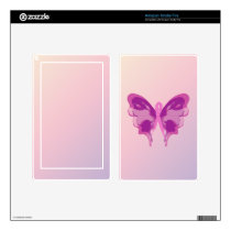 PINK RIBBON BUTTERFLY DECAL FOR KINDLE FIRE