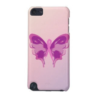 PINK RIBBON BUTTERFLY iPod TOUCH 5G CASE