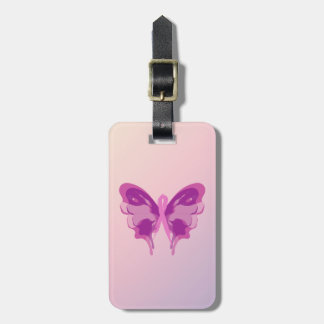PINK RIBBON BUTTERFLY LUGGAGE TAG