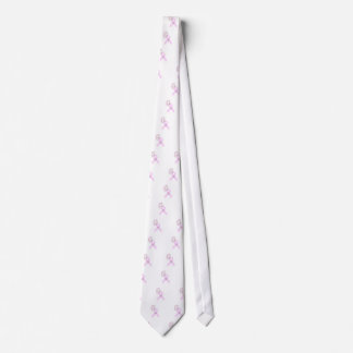 Pink Ribbon Butterfly Neck Tie