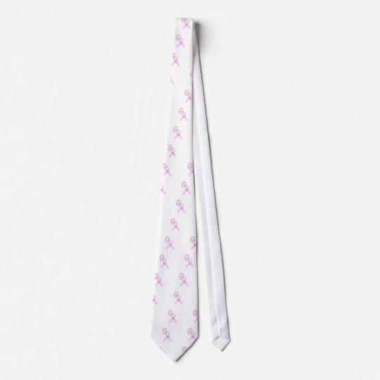 Pink Ribbon Butterfly Neck Tie