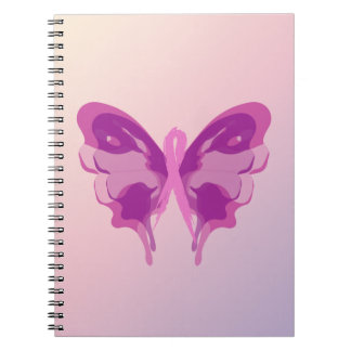 PINK RIBBON BUTTERFLY NOTEBOOK