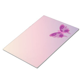 PINK RIBBON BUTTERFLY NOTEPAD