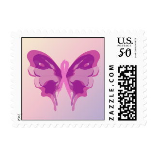 PINK RIBBON BUTTERFLY POSTAGE