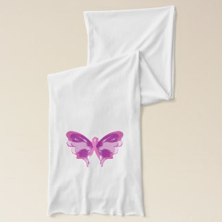 PINK RIBBON BUTTERFLY SCARF