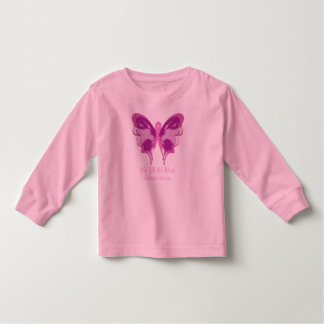 PINK RIBBON BUTTERFLY TODDLER T-SHIRT