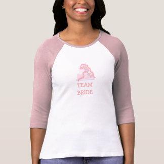 Pink Ribbon Cake Team Bride T-Shirt
