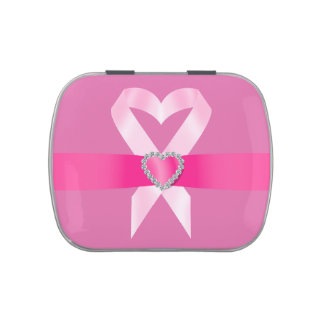 Pink Ribbon - Cancer Awareness - SRF Jelly Belly Tin