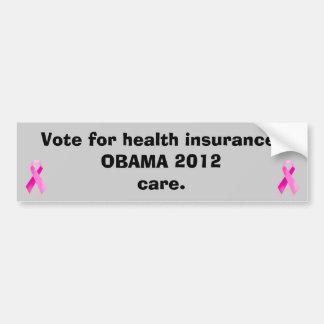 Pink Ribbon Care Bumper sticker/Obama 2012 Car Bumper Sticker