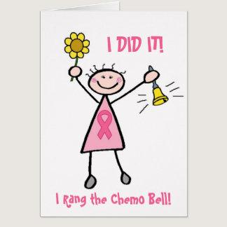 Pink Ribbon Chemo Bell Card