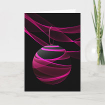 Pink Ribbon Christmas Celebration Holiday Card