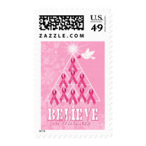 Pink Ribbon Christmas Tree | Breast Cancer Stamp