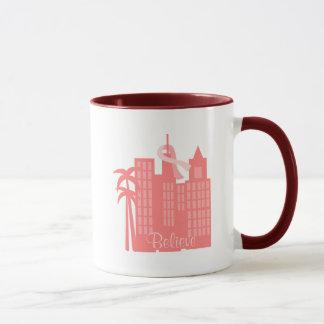 Pink Ribbon Cityscape Mug