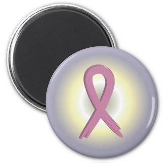 Pink Ribbon Colorful Breast Cancer Awareness Magne 2 Inch Round Magnet