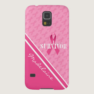 Pink Ribbon Custom Breast Cancer Survivor Case For Galaxy S5