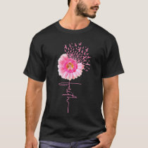 Pink Ribbon Daisy Faith - Breast Cancer T Shirt