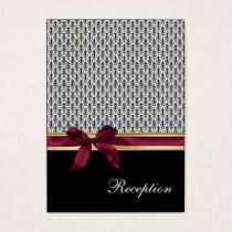 pink ribbon damask Reception   Cards