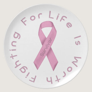 Pink Ribbon Dinner Plate