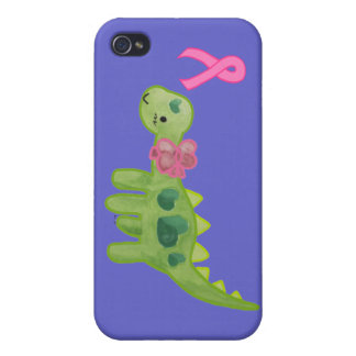 Pink Ribbon Dino iPhone 4 Case