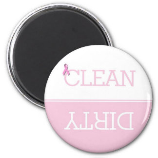 Pink Ribbon Dirty Clean Dishwasher Magnet