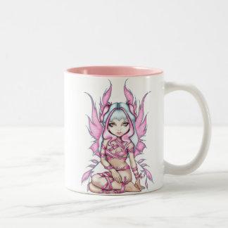 Pink Ribbon Fairy Mug