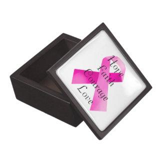 Pink Ribbon Faith Keepsake Box