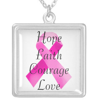 Pink Ribbon Faith Necklace