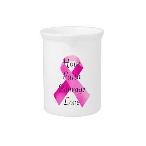 Pink Ribbon Faith Pitcher